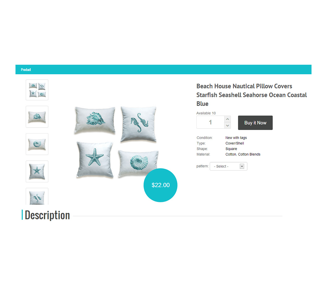 A showcase of three eBay Webstore shopping website templates and themes.