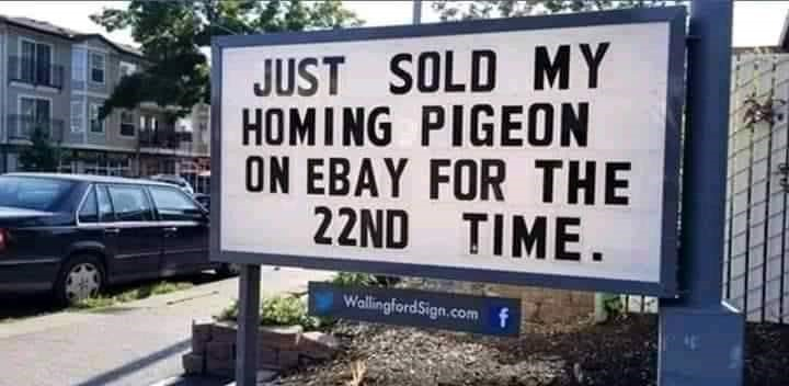 funny sign selling on eBay