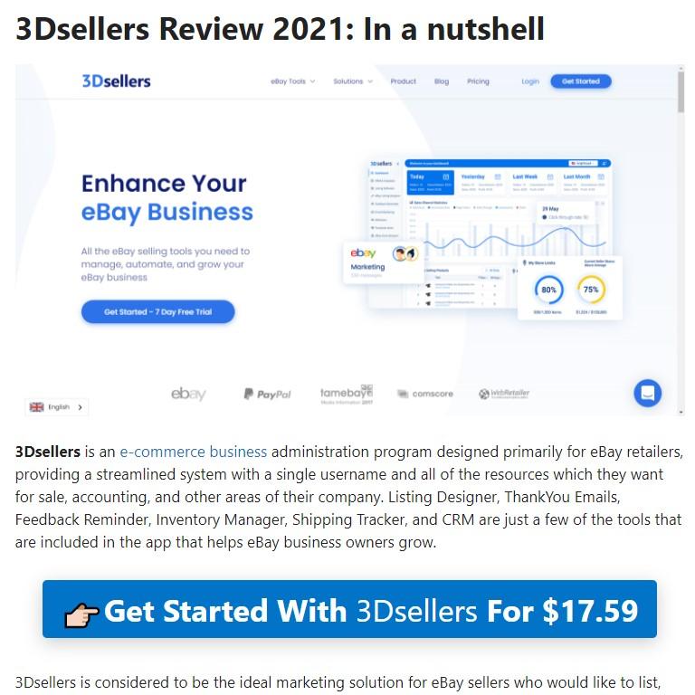BloggersIdeas.com - 3Dsellers Full Review