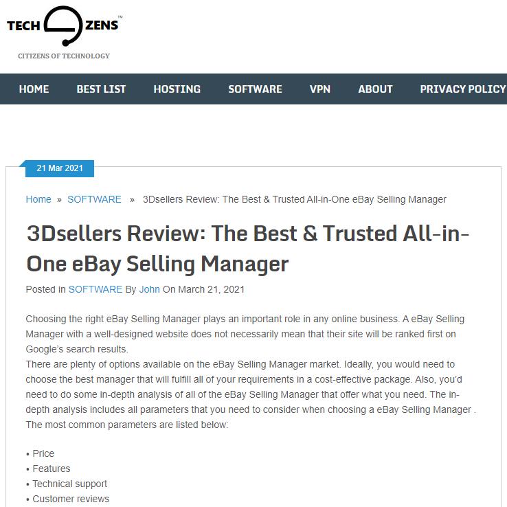 Techozens.com - 3Dsellers Review