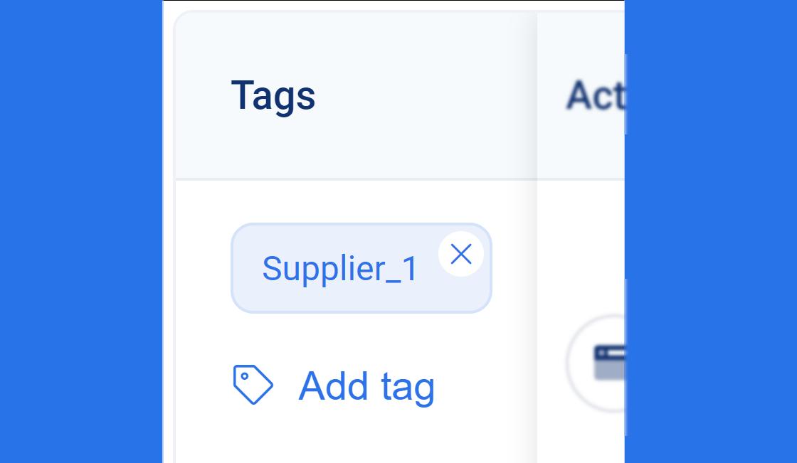 tag of supplier on 3Dsellers platform