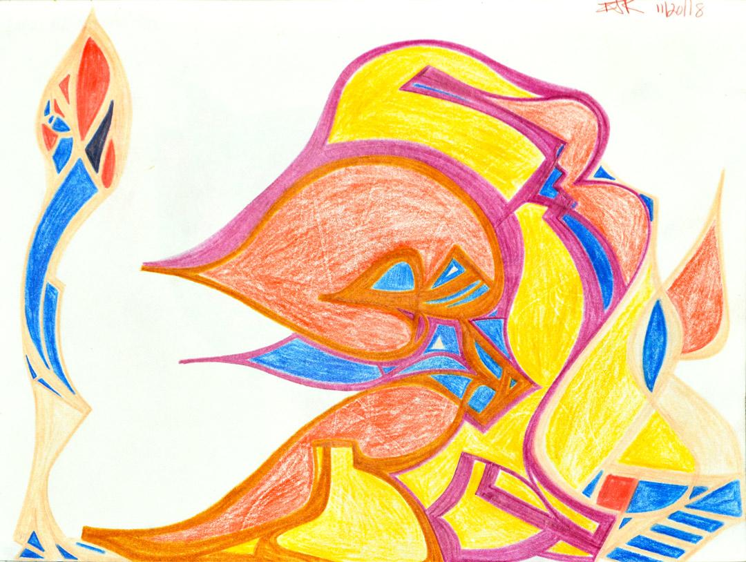 Colored pencil sketch by Ian James Roche
