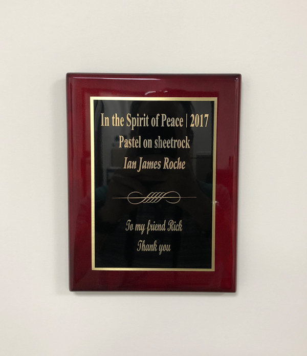 In the Spirit of Peace plaque