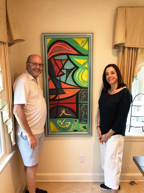 Painting in Salzman home