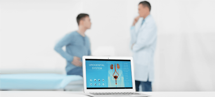 Patient consultation with doctor on BPH