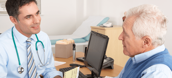 Man discusses BPH Surgery with physician