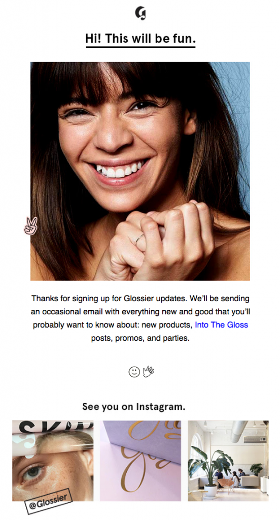 glossier-welcome-email