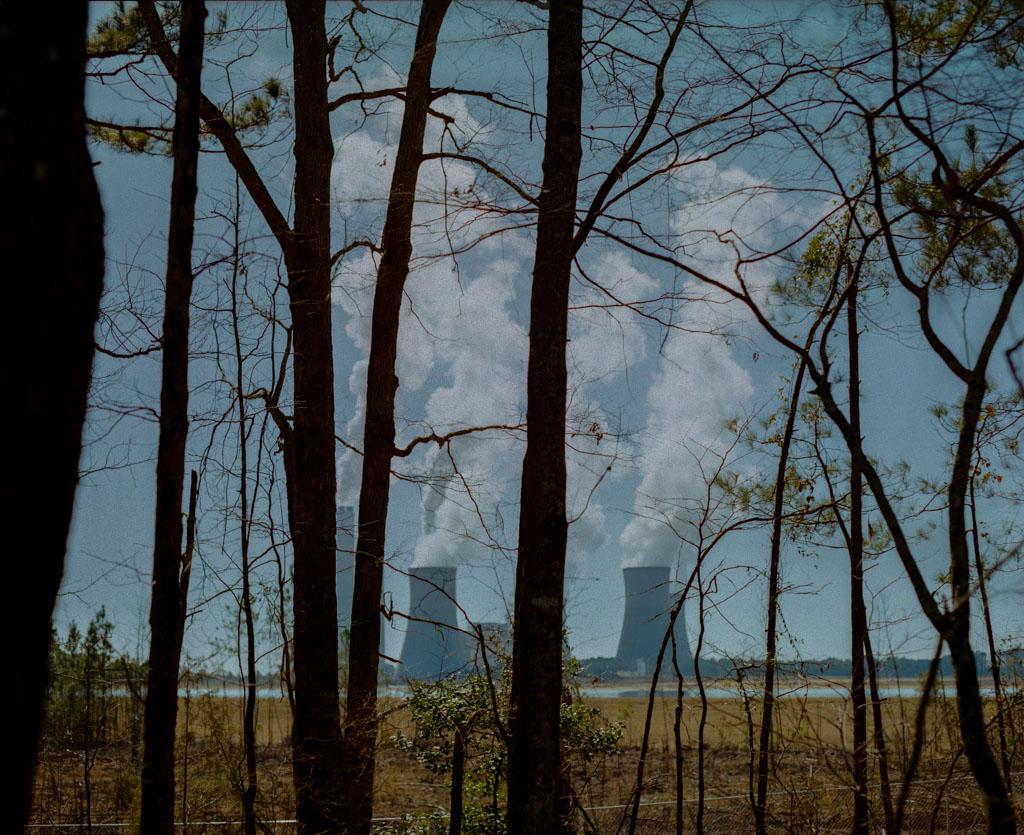 Coal Plant through trees