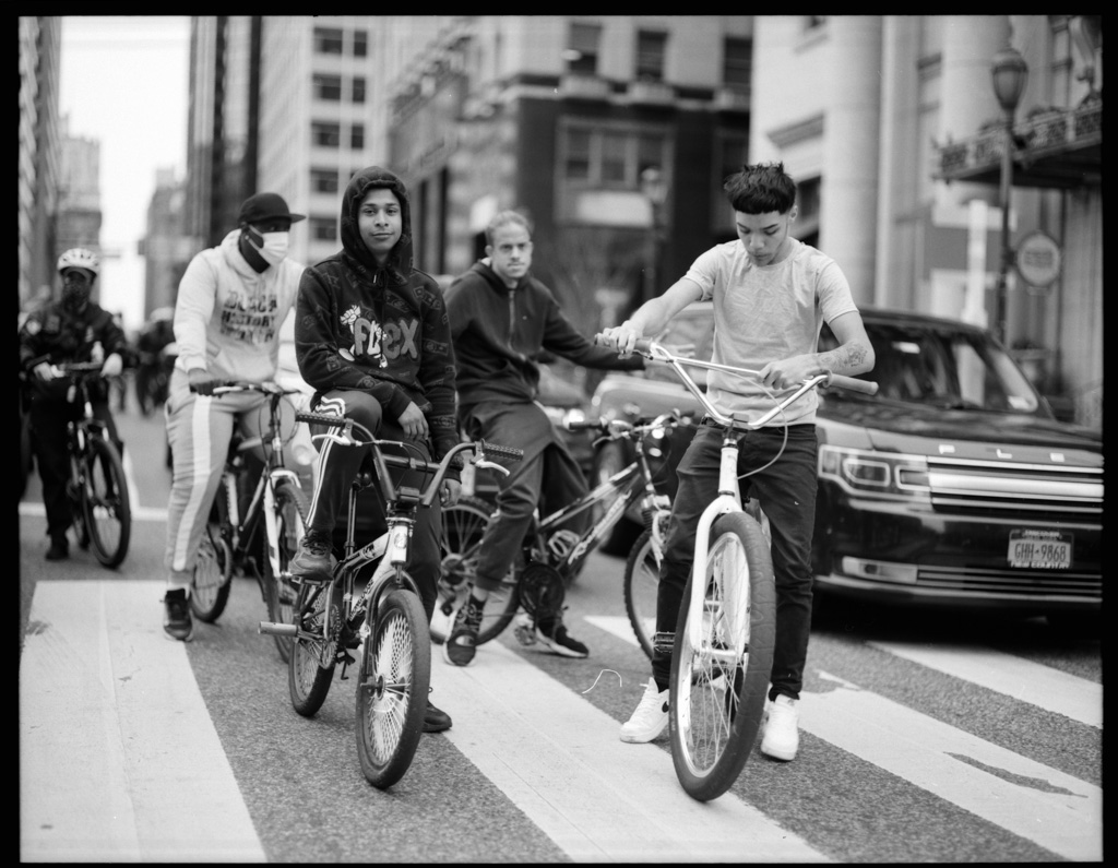 Philly kids out on the bikes