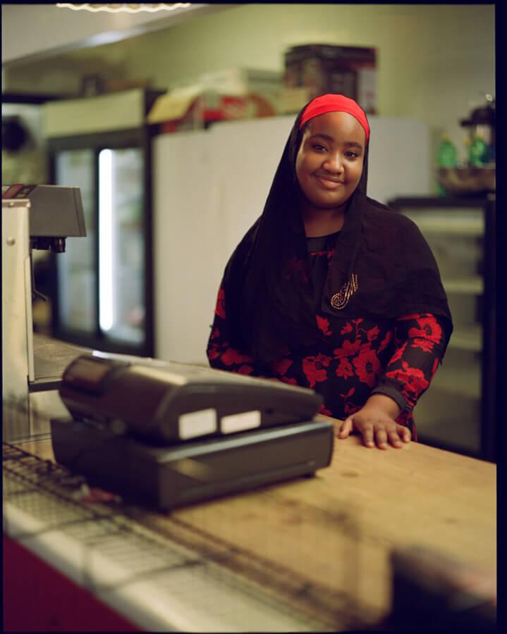 Mudiatm, worker at Js restaurant