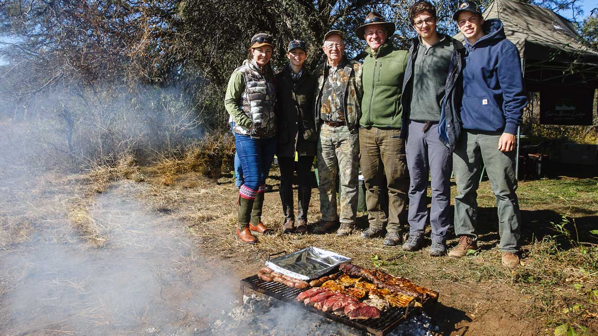 Argentinian BBQ - Dove Hunting guys in the field