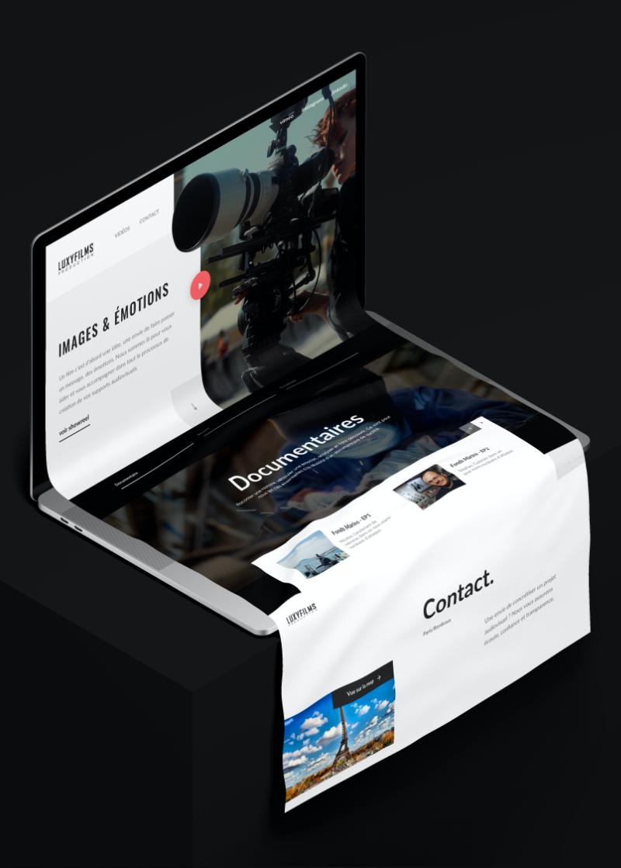 Création du site Internet d'une société de production audiovisuelle