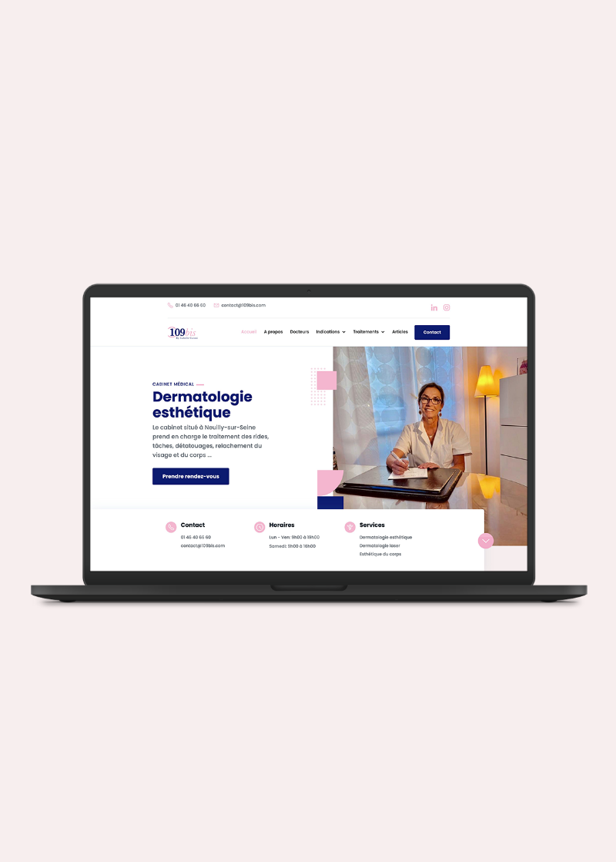 Création du site Internet d'un cabinet médical de dermatologie