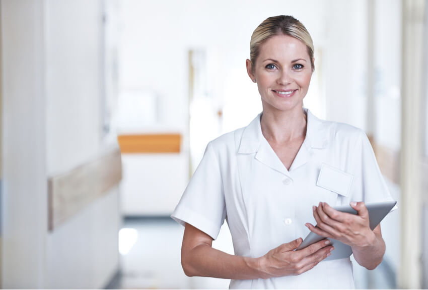 Woman doctor quality patient care