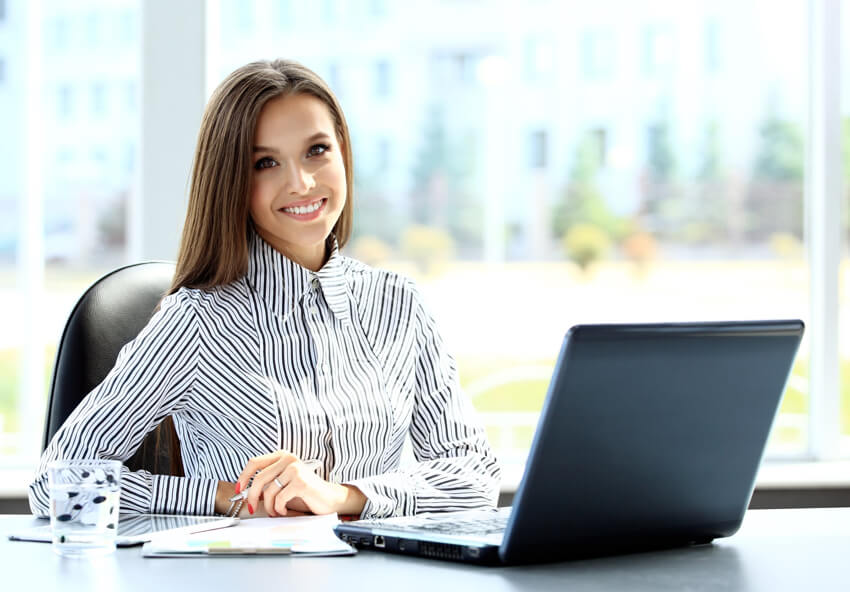 Business woman offshore recruiting staffing