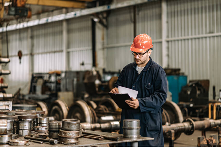 Man manufacturing marketplace and PO funding