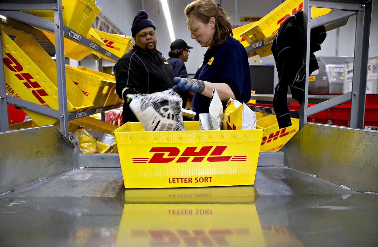 DHL Delivery Sorting Warehouse