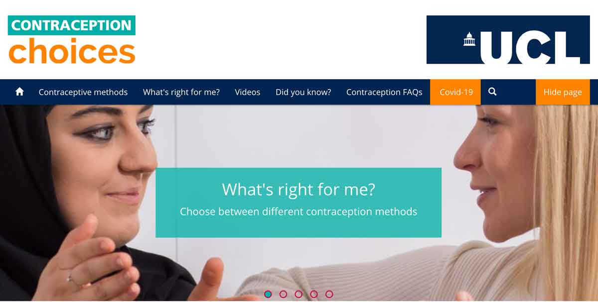 Contraceptive choices website