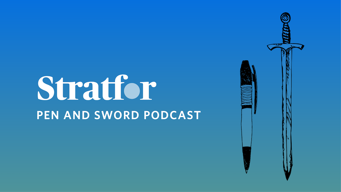 Stratfor Pen and Sword Podcast logo