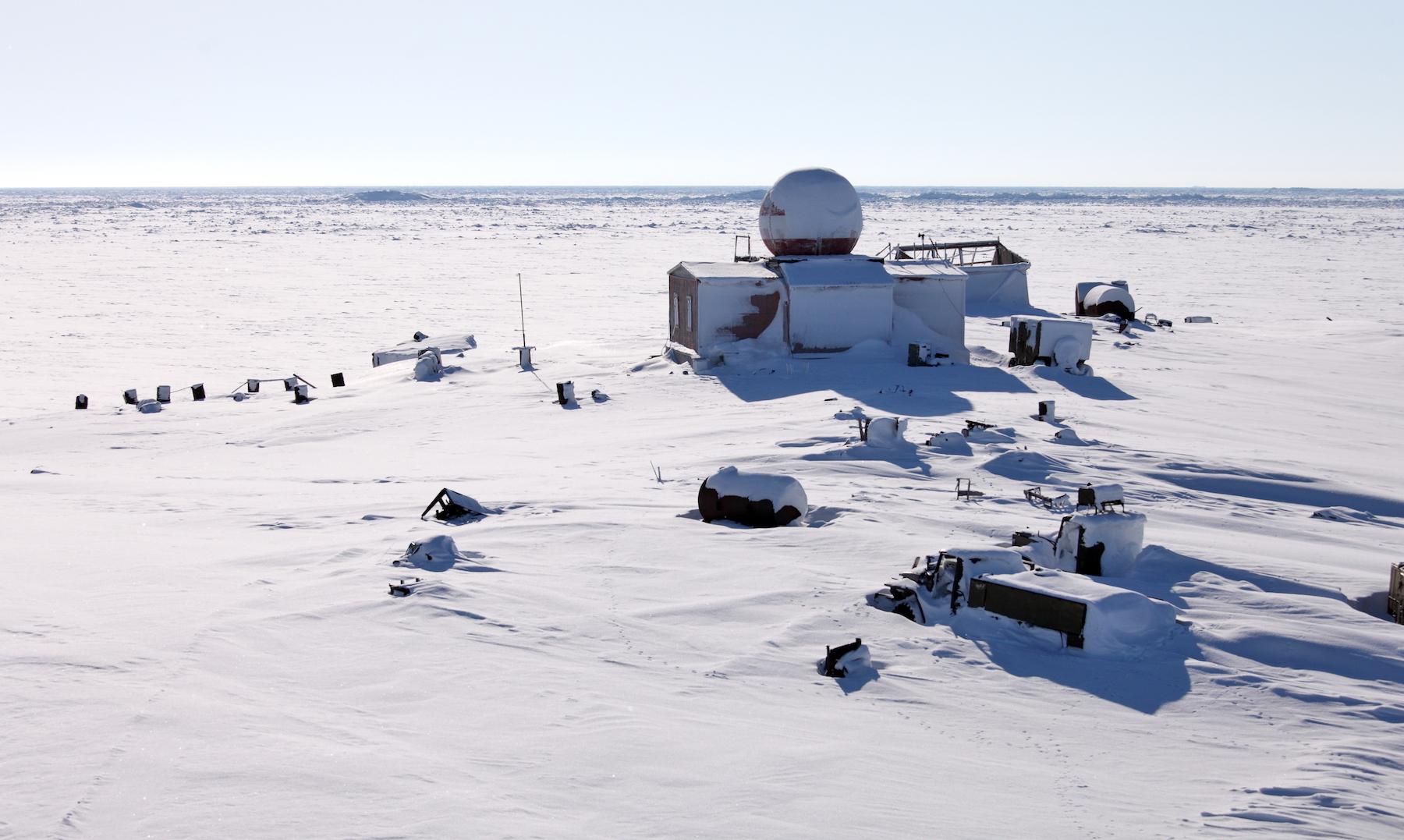 An abandoned polar station.