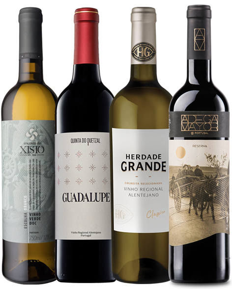 Encosta do Xisto, Quinta do Quetzal, Herdade Grande, Adega Mayor. Wine of Portugal.