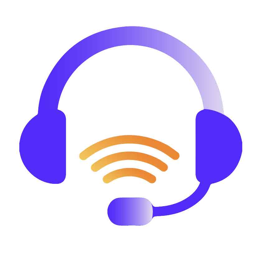 Illustration of purple headset