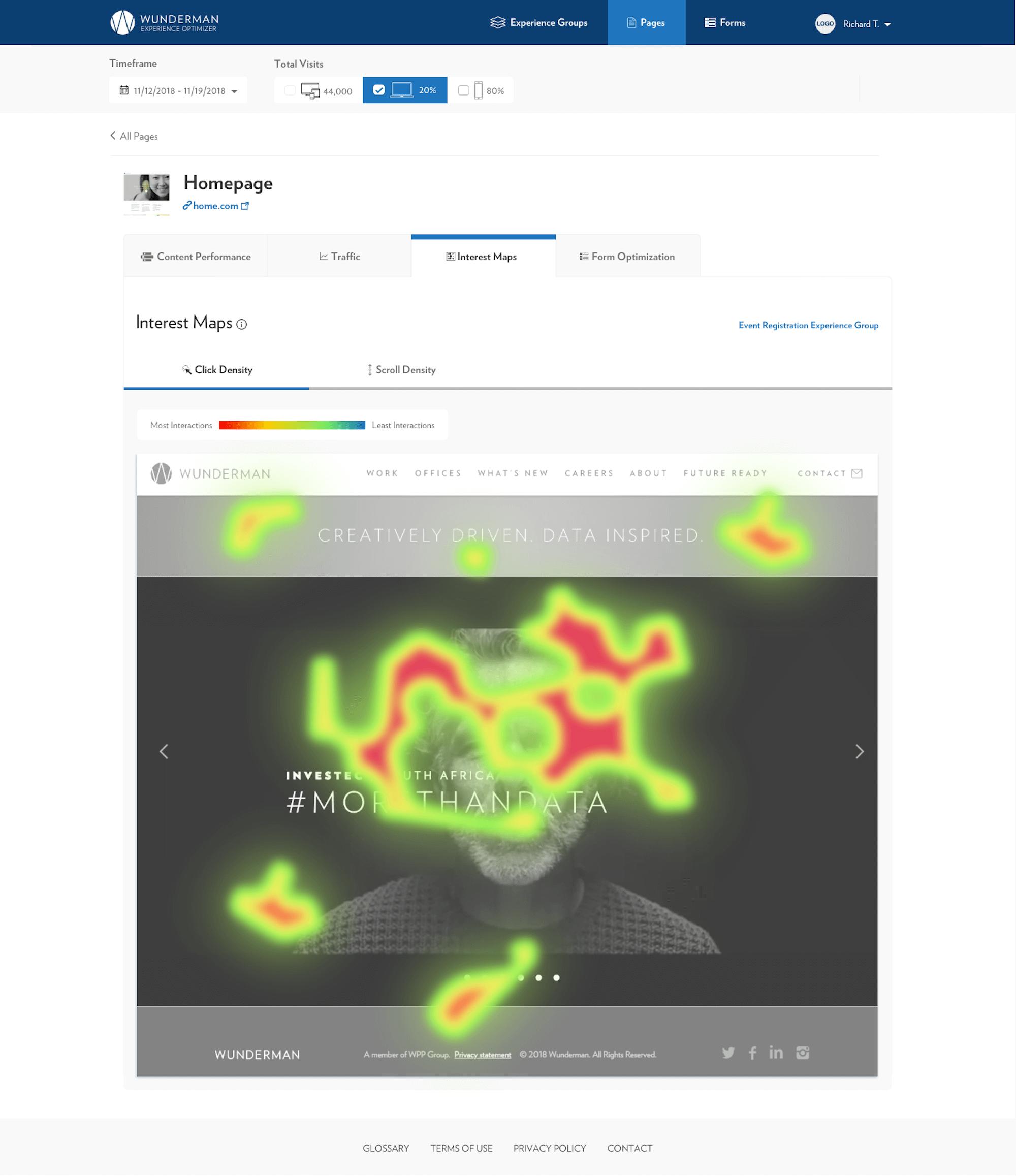 Wunderman Analytics Tool Interface