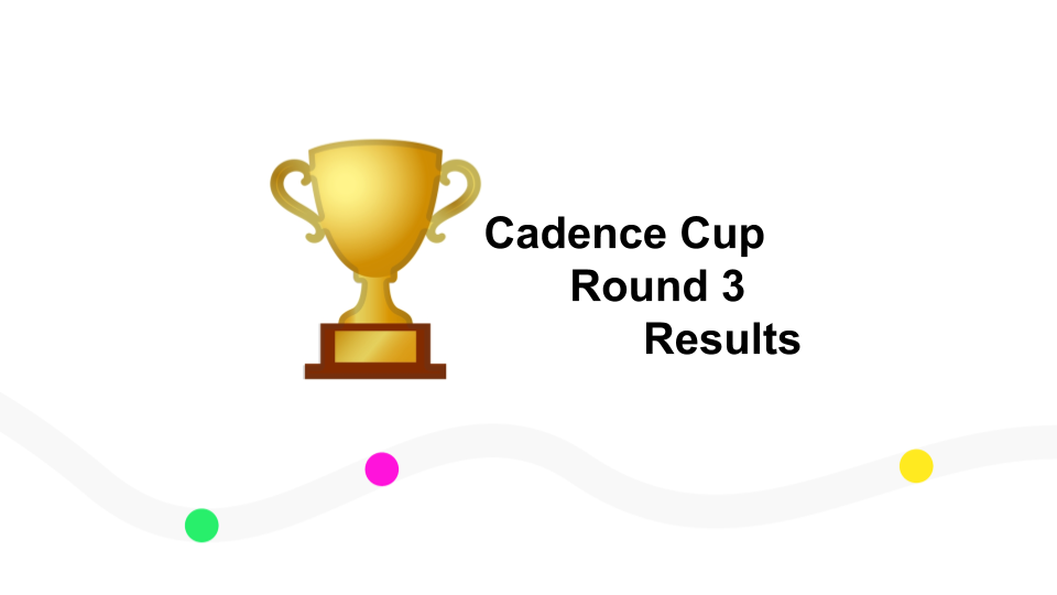 Cadence Cup Round 3: The Results are Here