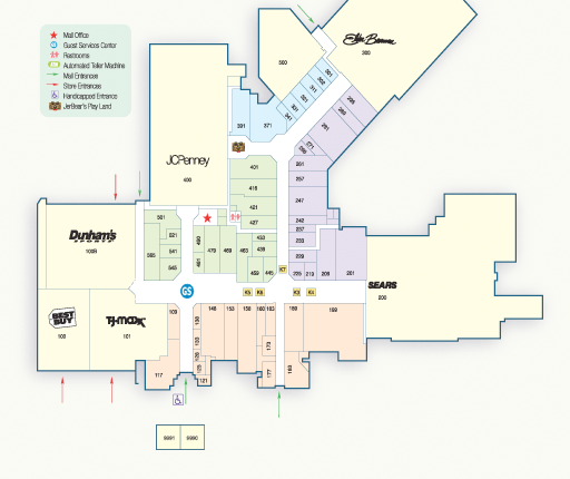 Map of the stores in Findlay Village Mall