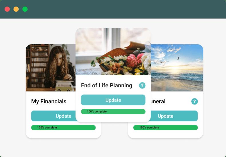 End of Life Planning Screenshot