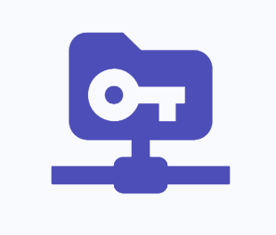 Icon with a file and key