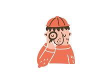 Illustrasjon: Mann  ser gjennom et forstørrelsesglass