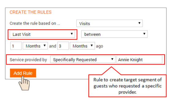 Create a Target Segment of Guests