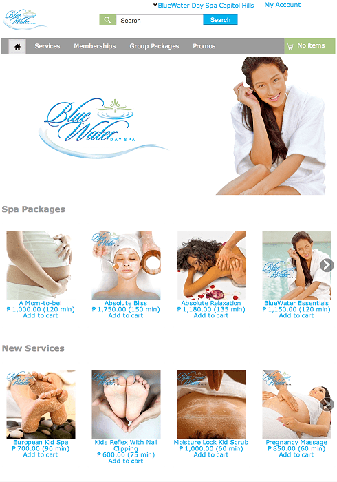 BlueWater Day Spa Launches Webstore