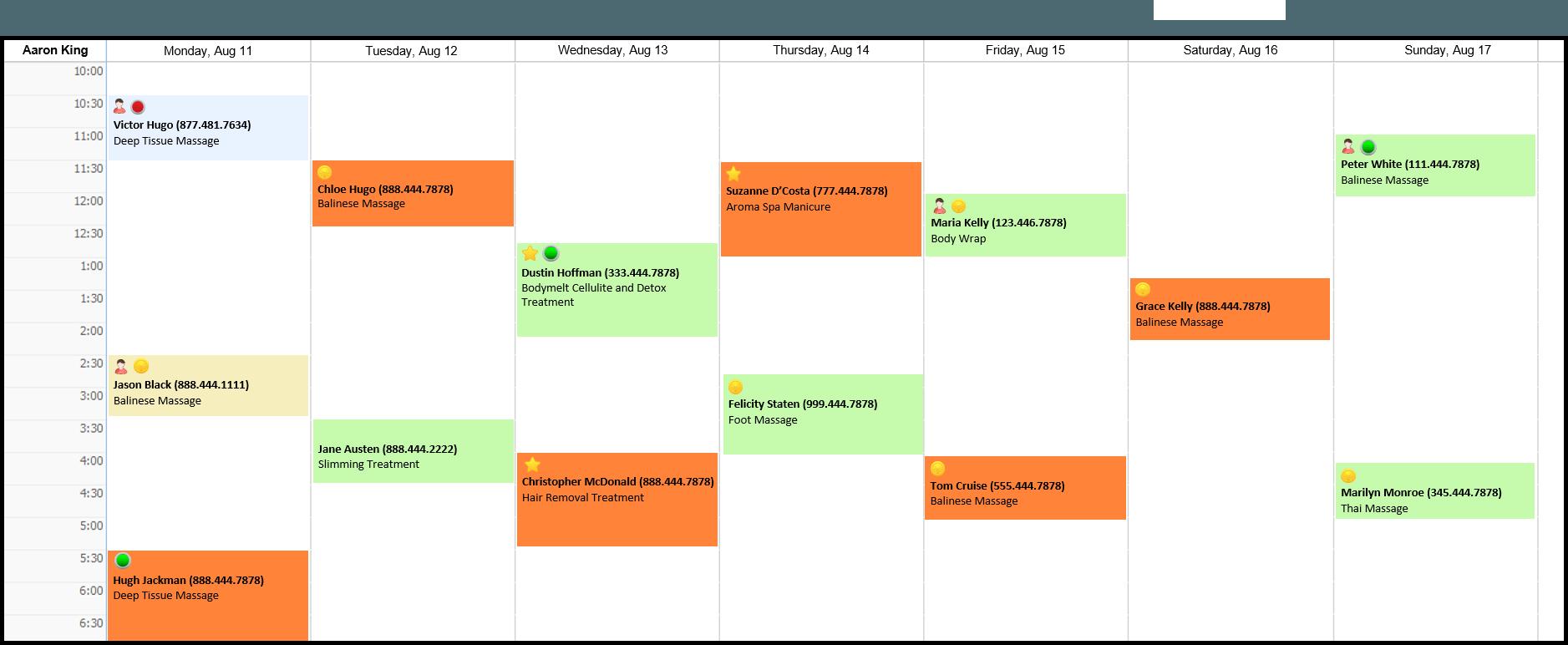 Employee Weekly Schedule