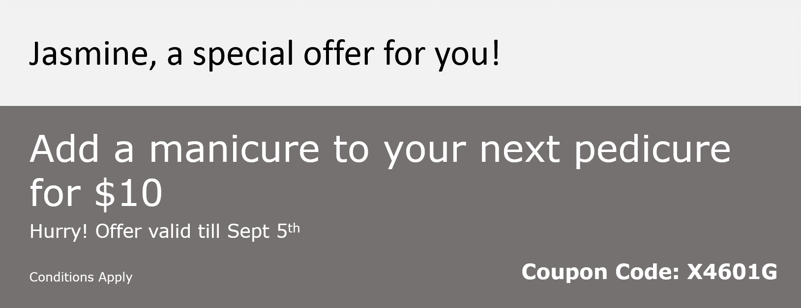 Custom Coupon - Cross sell service