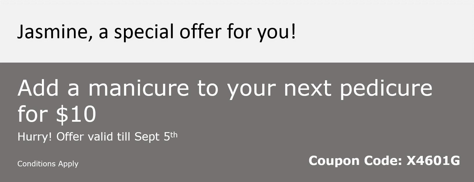 Custom Coupon - Cross sell service