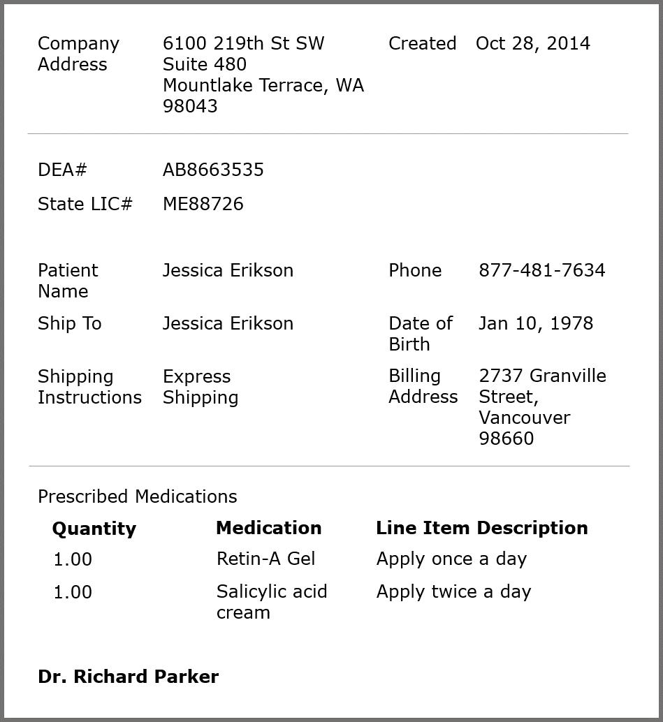 Standard Prescription