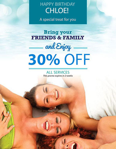 Friends and Family Birthday Promotion