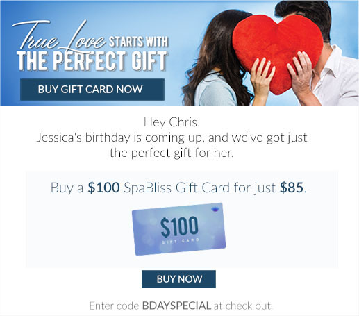 Reminder email to buy birthday gift card