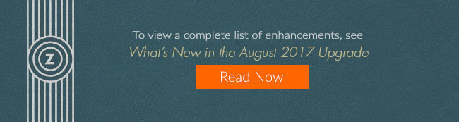 Whats New in the August 2017 Upgrade