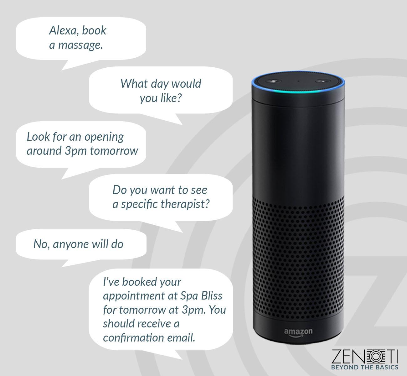 Zenoti + Amazon Echo