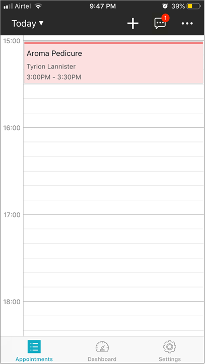 New Layout to See Your Day's Schedule (iOS)