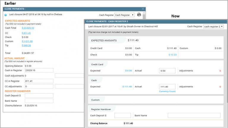 Close payments Details