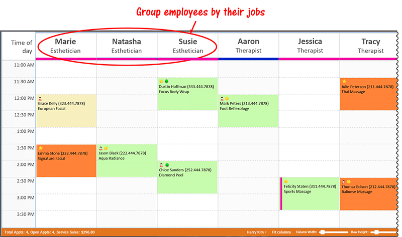 Sort Employees By Job