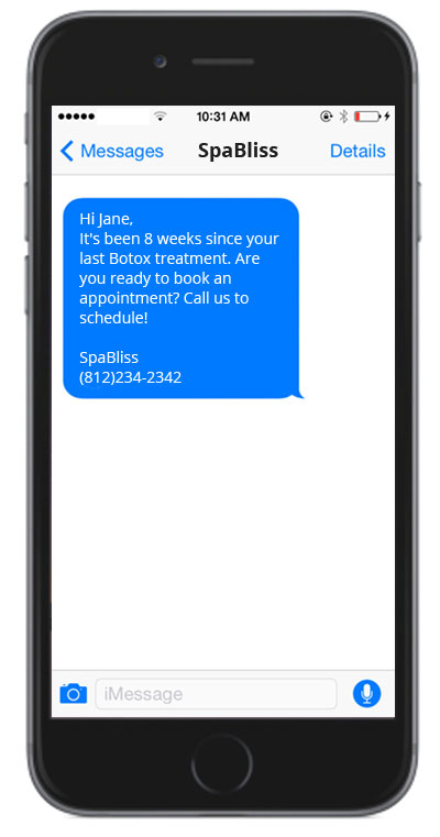 Send appointment reminders with a simple text message.