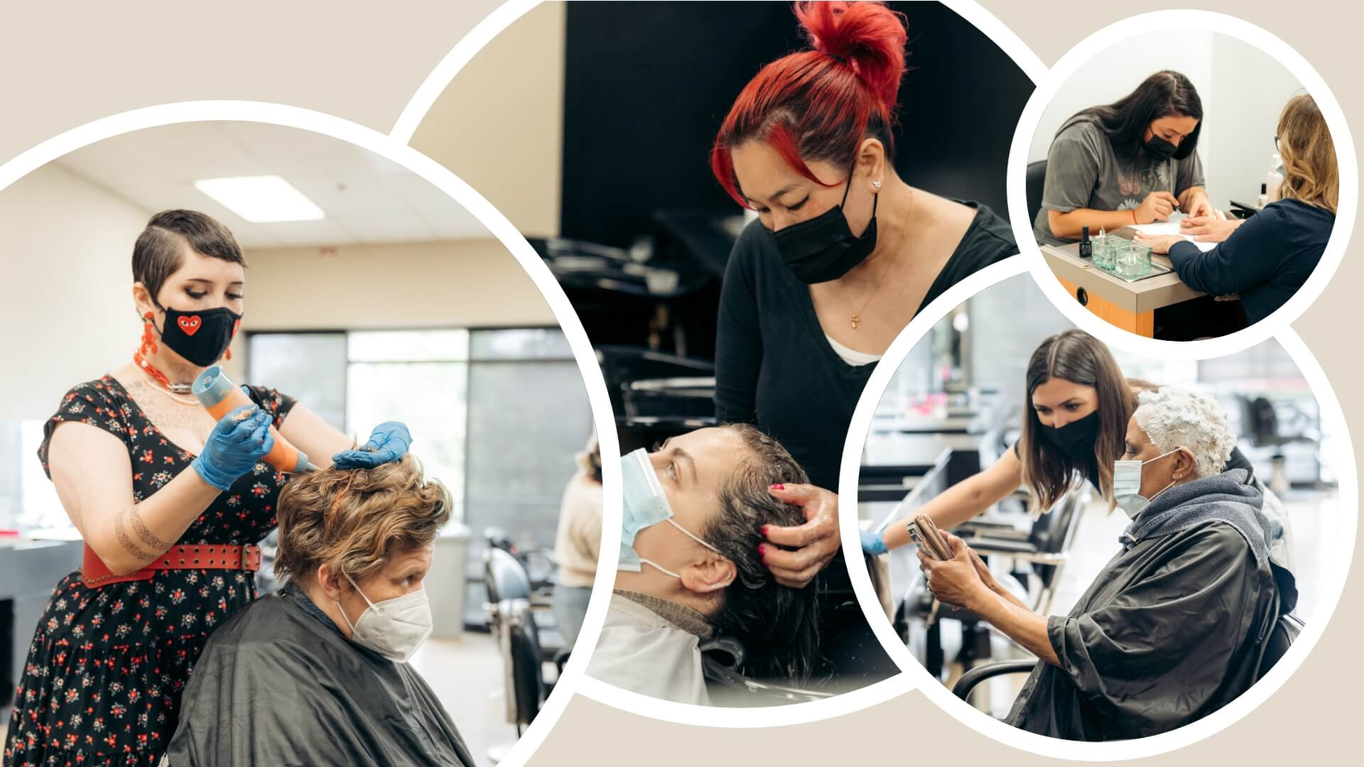 Experts from Gene Juarez salon working with their customers