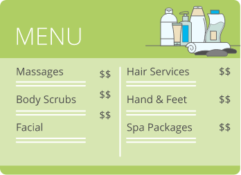 Menus, Prices And SKUs - Salon Spa Management Software