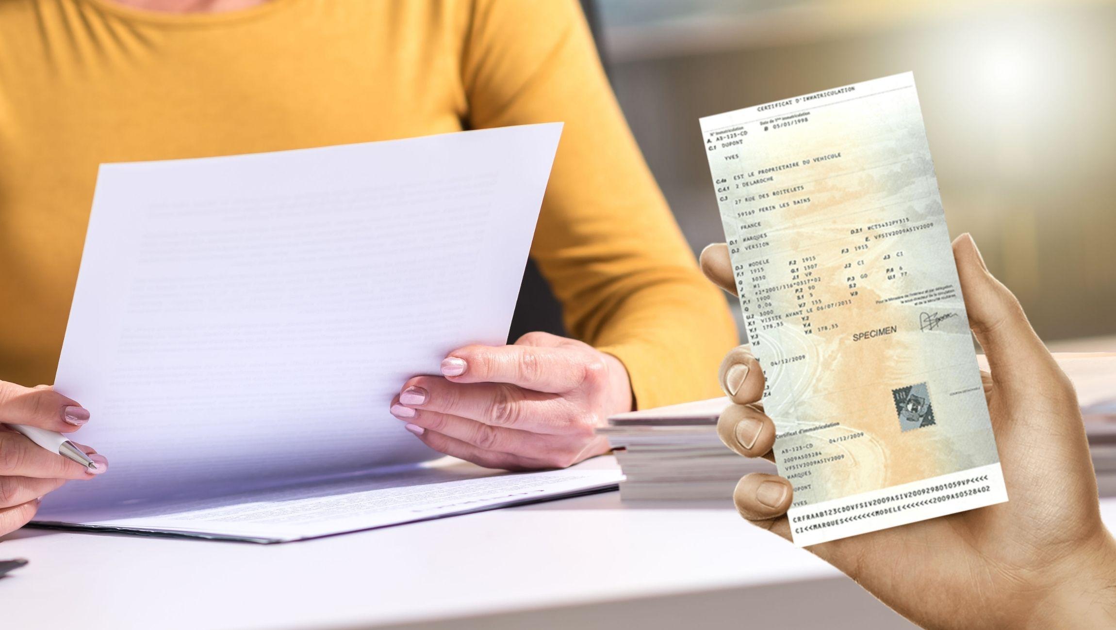 Déclaration perte carte grise cerfa PDF