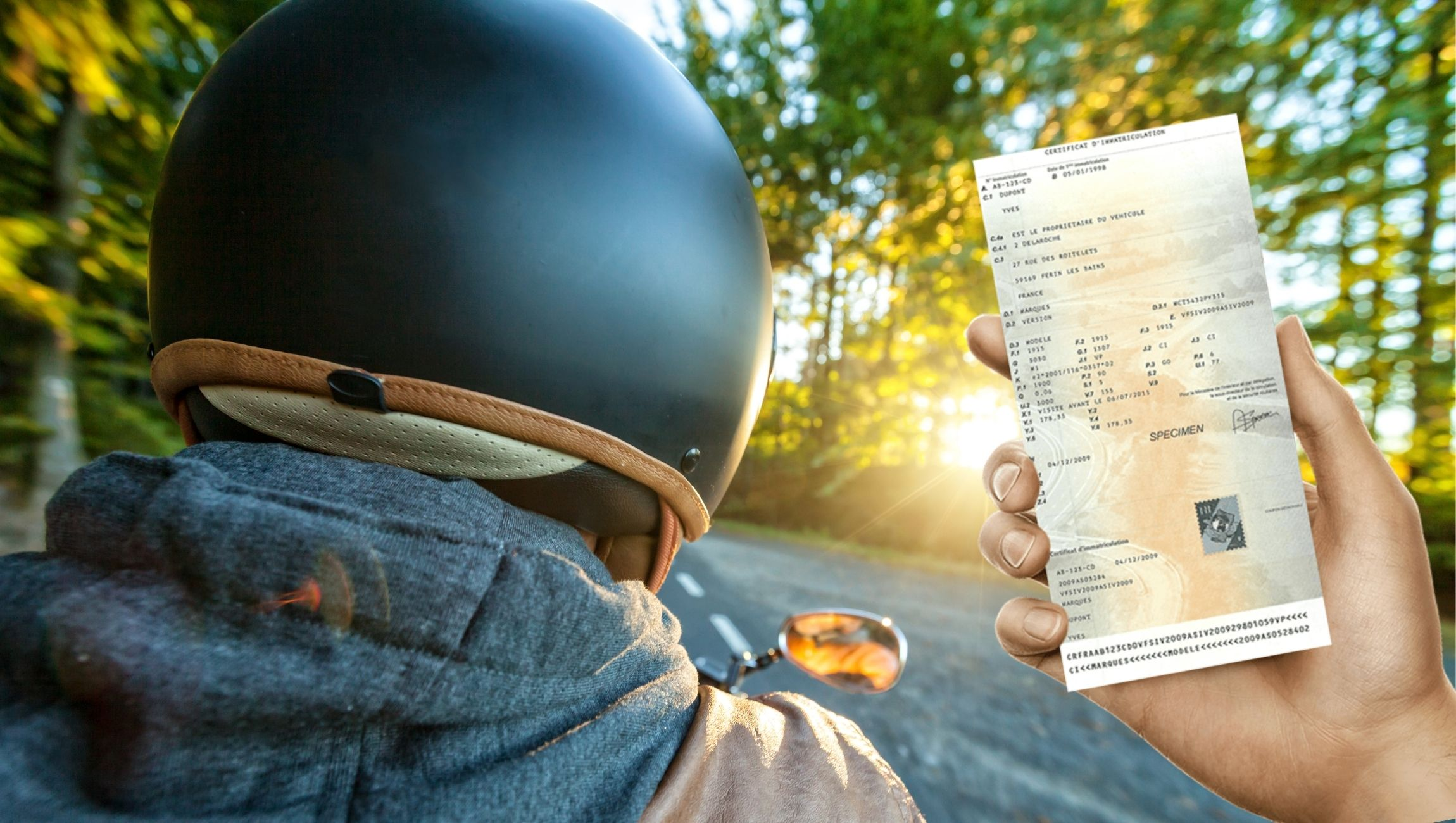 Déclaration de perte carte grise moto